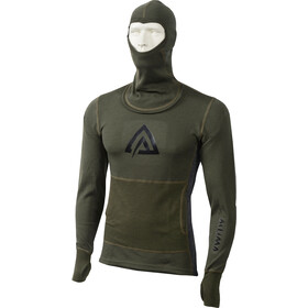 Aclima Warmwool Sweat à capuche Homme, olive night/marengo